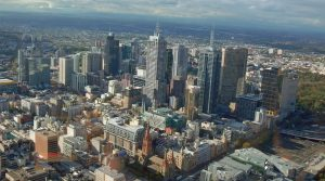 Die Skyline vo Melbourne.