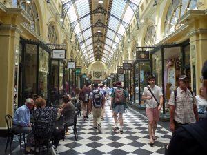 Victoria, Australien historische Arkade in Melbourne