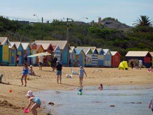 Victoria Australien: Strand in Brighton.