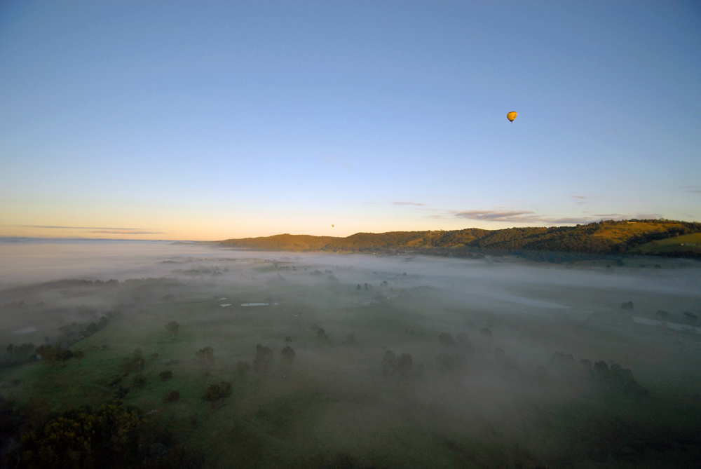 Victoria in Australien: Sonnenaufgang über dem Yarra Valley