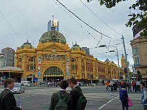 Victoria Australien: Flinders Station in Melbourne.e