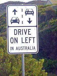 Victoria Australien: Straßenschild