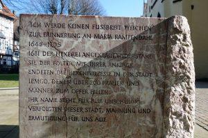 Lemgo, Lipperland, Gedenkstein