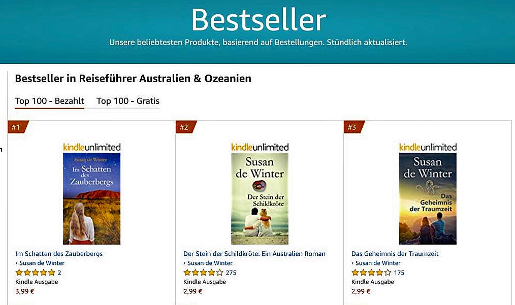 Bestseller Australienromane