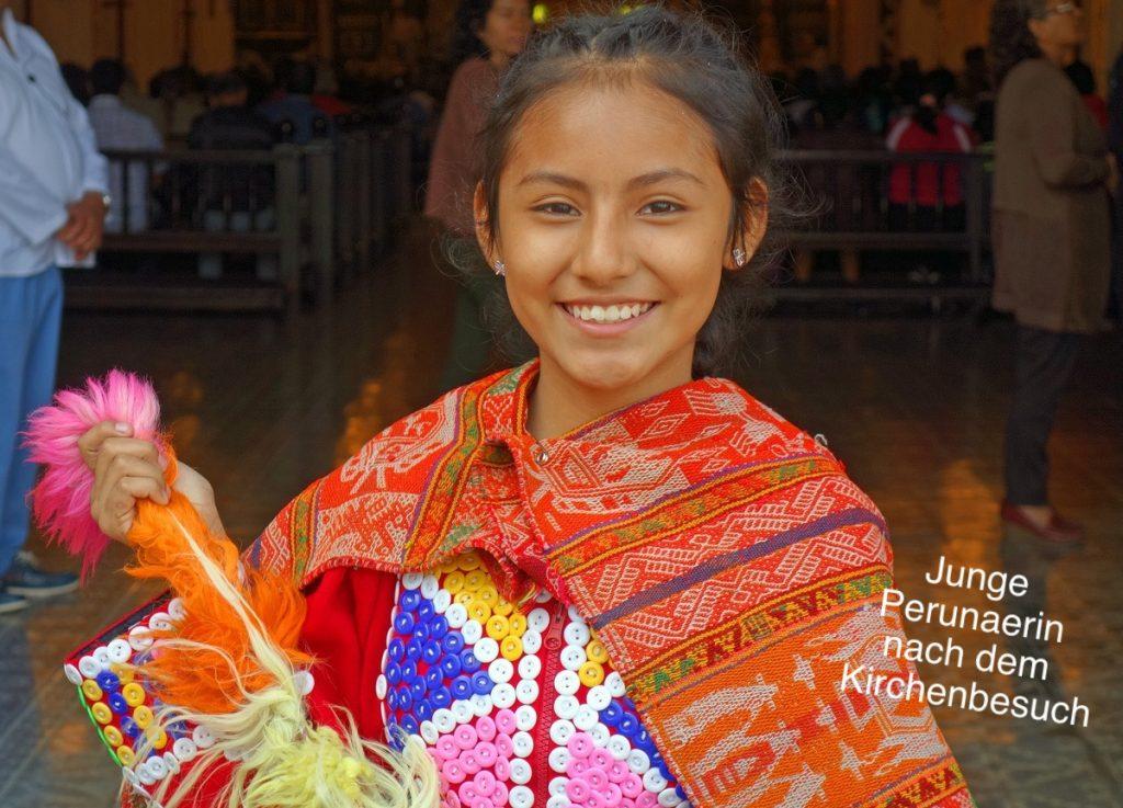 Peruanerin in Lima