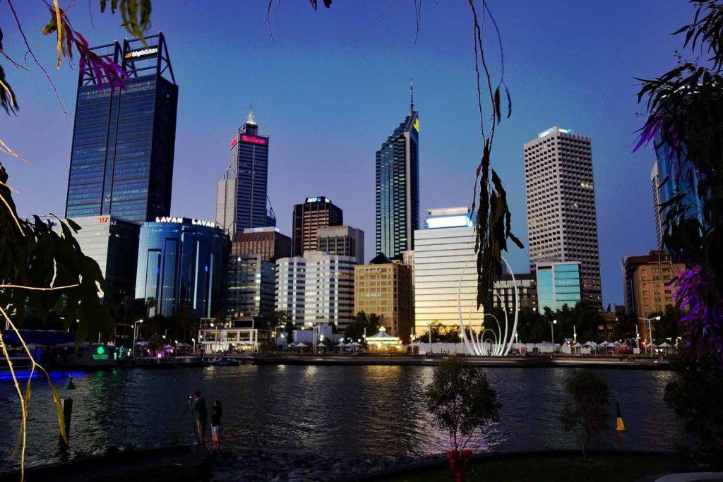 Australienromane Perth Skyline